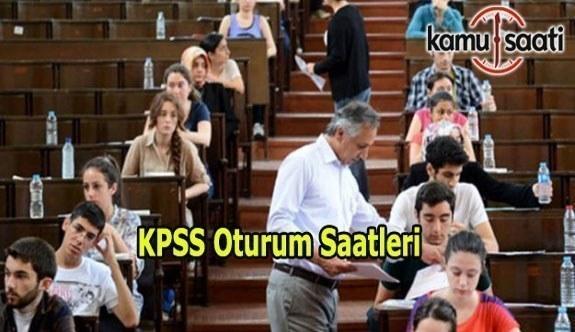 2017 KPSS Lisans ve Eğitim Bilimleri Sınavı Saat kaçta başlayacak? KPSS Oturum Saatleri