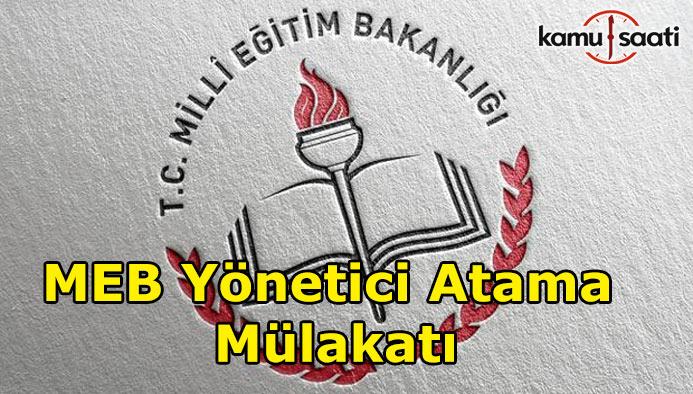 2017 MEB Yönetici Atama Mülakat Soruları nasıl olacak?