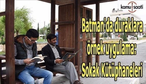 Batman'da duraklara örnek uygulama: Sokak Kütüphaneleri