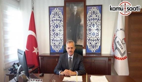 Bursa İl Milli Eğitim Müdürü Veli Sarıkaya Görevden Alındı