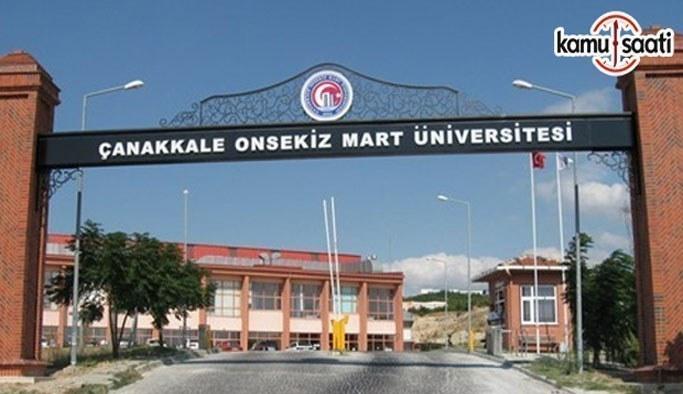 Çanakkale Onsekiz Mart Üniversitesi Lisansüstü Eğitim-Öğretim Yönetmeliği