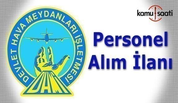 DHMİ personel alım ilanı - 22 Mayıs 2017