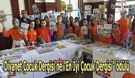 """Diyanet Çocuk Dergisi'ne """"En İyi Çocuk Dergisi"""" ödülü"""