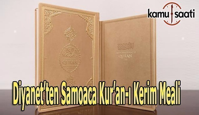 Diyanet'ten Samoaca Kur'an-ı Kerim Meali