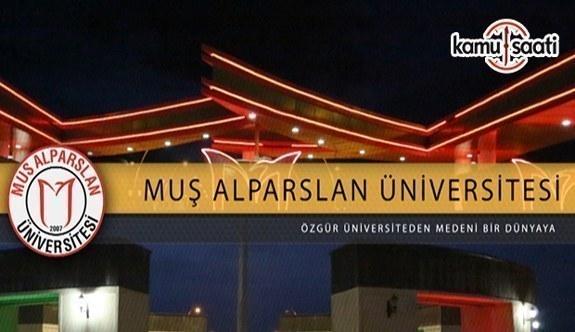 Muş Alparslan Üniversitesi Lisansüstü Eğitim ve Öğretim Yönetmeliğinde Değişiklik