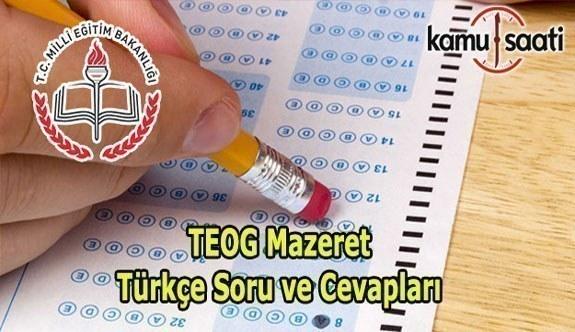 TEOG Mazeret Sınavı Türkçe Soru ve Cevapları Burada 20 Mayıs 2017
