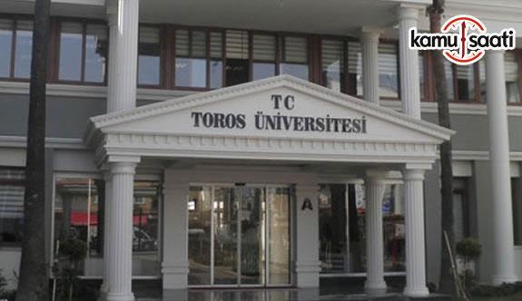 Toros Üniversitesi Önlisans ve Lisans Eğitim-Öğretim ve Sınav Yönetmeliğinde Değişiklik