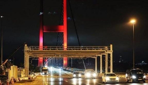 15 Temmuz Şehitler Köprüsü'nde yenileme çalışmaları başladı