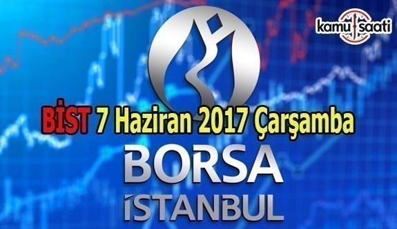 Borsa İstanbul BİST - 7 Haziran 2017 Çarşamba