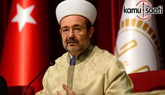 Diyanet İşleri Başkanı Görmez'den Kuran-ı Kerim okuma yarışmasına eleştiri