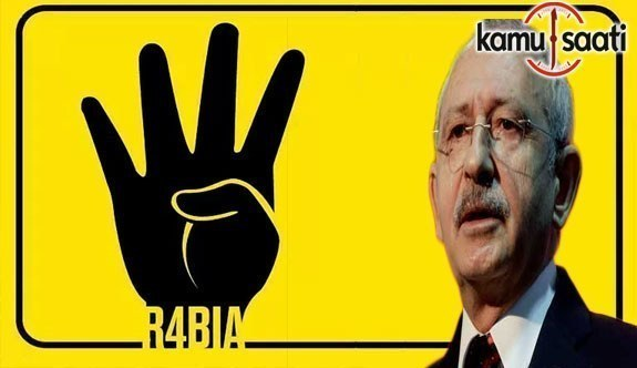 Kılıçdaroğlu Rabia işaretine Terör Simgesi dedi