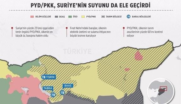PKK, Suriye topraklarının yüzde 23'ünü işgal etti