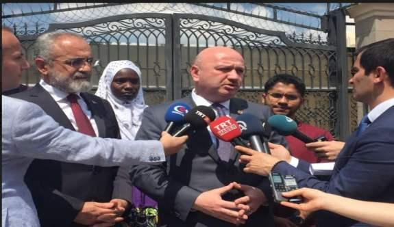 Yalçın Topçu ve Metin Gündoğdu'dan Katar Büyükelçisine Destek Ziyareti