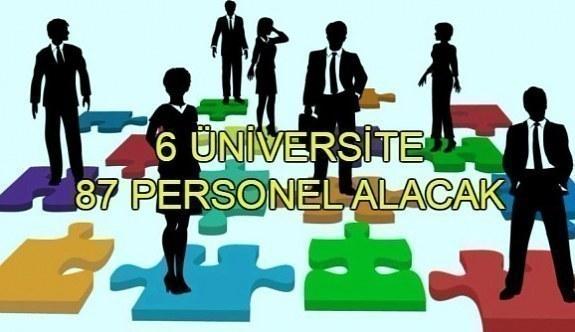 6 üniversite 87 personel alımı yapacak