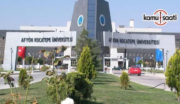 Afyon Kocatepe Üniversitesi Önlisans ve Lisans Eğitim-Öğretim ve Sınav Yönetmeliğinde Değişiklik