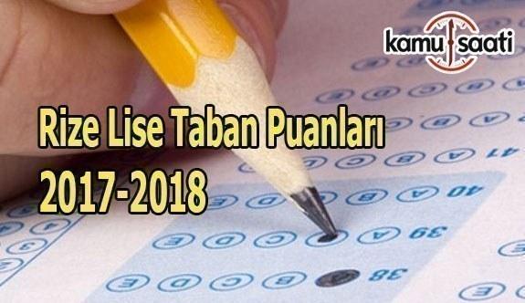 TEOG Rize Lise Taban Puanları 2017 - 2018