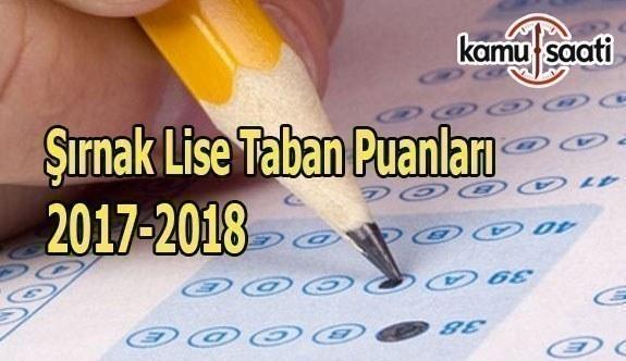 TEOG Şırnak Lise Taban Puanları 2017-2018