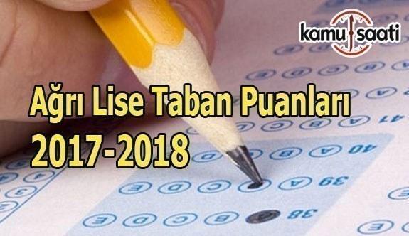 TEOG Ağrı Lise Taban Puanları 2017-2018