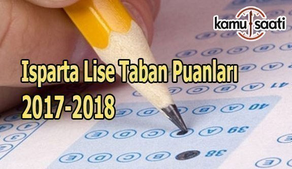 TEOG Isparta Lise Taban Puanları 2017-2018