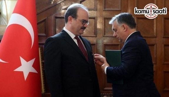 TİKA Başkanı Çam'a Macaristan devleti liyakat nişanı verildi