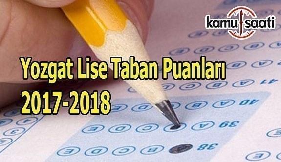 TEOG Yozgat Lise Taban Puanları 2017-2018