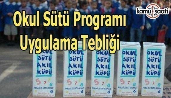 Okul Sütü Programı Uygulama Tebliği