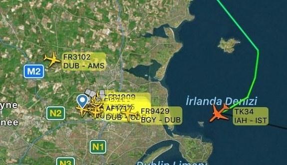 THY'nin Houston uçağı Dublin'e zorunlu indi