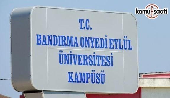 Bandırma Onyedi Eylül Üniversitesi Kariyer Geliştirme Uygulama ve Araştırma Merkezi Yönetmeliği
