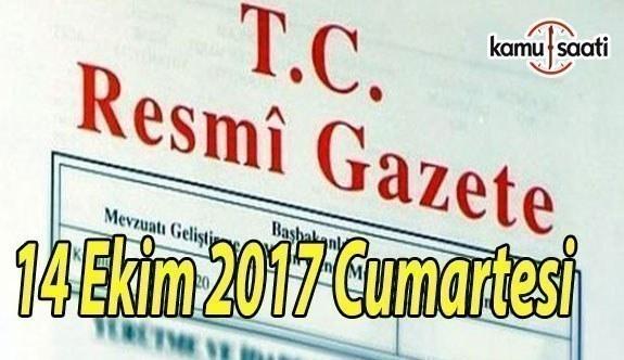 TC Resmi Gazete - 14 Ekim 2017 Cumartesi