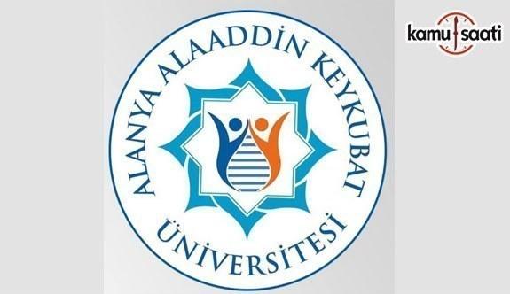 Alanya Alaaddin Keykubat Üniversitesi'ne ilişkin 2 Yönetmelik Resmi Gazete'de yayımlandı