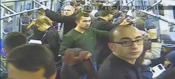 Ankara metrosundaki bomba paniği güvenlik kamerasında
