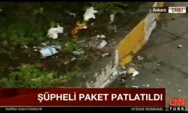 Ankara tren garında şüpheli paket canlı yayında patlatıldı