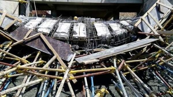 Ankara'da inşaat iskelesi çöktü 7 yaralı