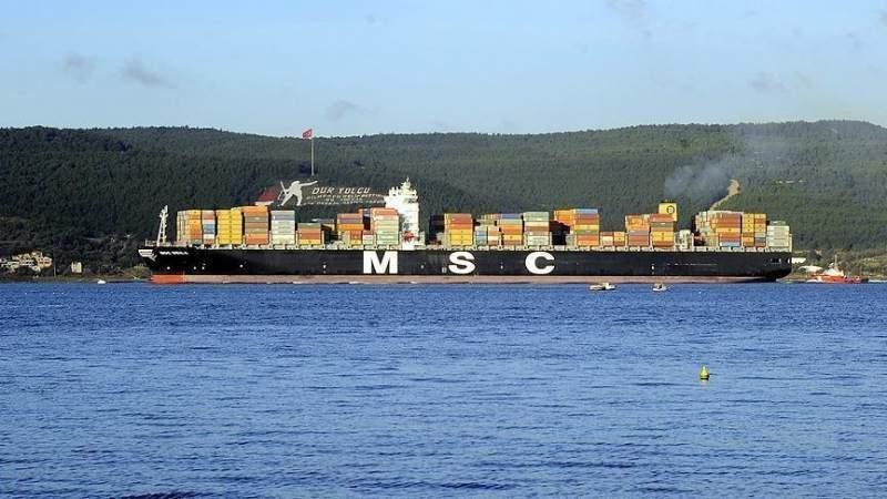 Çanakkale Boğazı\'ndan dev gemi geçti