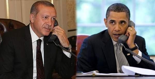 Cumhurbaşkanı Erdoğan, ABD Başkanı Obama ile telefon görüşmesi yaptı