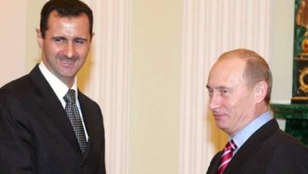 Esad Moskova'da ortaya çıktı