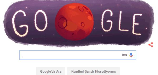 Google'dan Mars'a Doodle