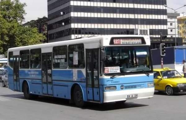 Özel halk otobüslerinden çalışmama eylemi