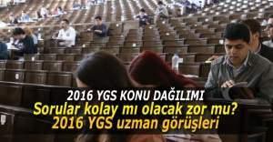 2016 YGS konuları, ÖSYM YGS soruları ders dağılımı, 2016 YGS'de hangi sorular çıkar? 24 Şubat 2016 Çarşamba