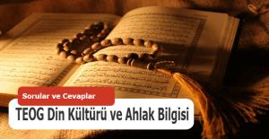 Teog Din Kültürü ve Ahlak Bilgisi soruları 27 Nisan Çarşamba