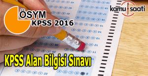 2016 KPSS Alan sınavı...