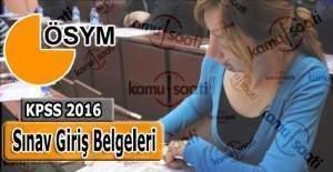 KPSS 2016 sınav giriş yerleri ne zaman açıklanacak?