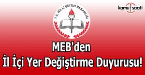 MEB'den il içi yer değiştirme duyurusu!