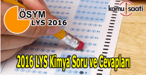 2016 LYS Kimya sınav soruları ve cevapları burada!