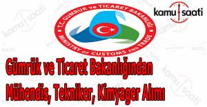 Gümrük Ticaret Bakanlığı personel alımı 2016