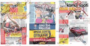 Spor Manşetleri 10 Haziran 2016 Cuma