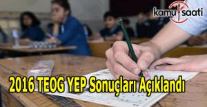 Teog YEP puanı sonuçları açıklandı - E-okul üzerinden YEP sonucu öğren