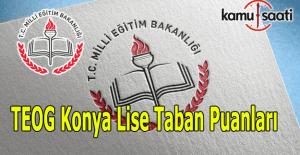 Teog Konya Lise taban puanları 2016