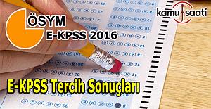 E-KPSS Tercih Sonuçları açıklandı...