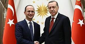 Arnavutluk Dışişleri Bakanı Buşati Cumhurbaşkanlığı Külliyesinde